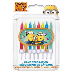 Despicable Me 2 Cake Decorator Candle with 8 Birthday Candles
