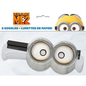 Despicable Me Paper Goggles Favors 8 Pack
