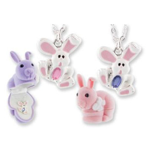 Bunny Animal Pendant Necklace in Bunny Box