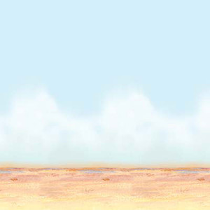 Desert Sky & Sand Theme Backdrop 4 Feet x 30 Feet