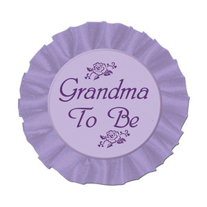 Grandma To Be Satin Button Party Accessory