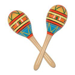 Fiesta Fun Party Maracas 8 Inches