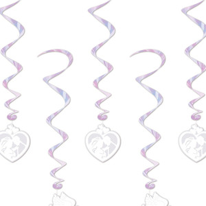 Wedding Hanging 38-Inch Whirls 5 Count
