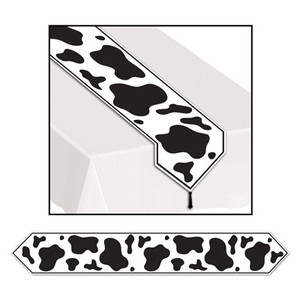 Printed Cow Print Table Runner Party Accessory