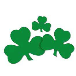 Packaged Printed Assorted Shamrock Cutouts