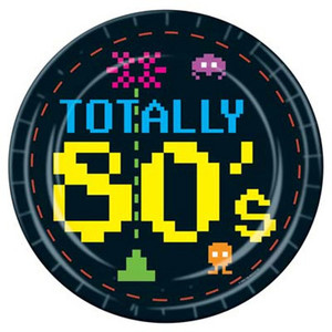 80'S Plates Party Accessory
