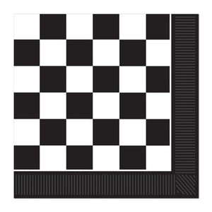 Black And White Check Lunch Napkins