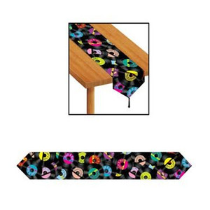Printed Rock & Roll Table Runner Party Accessory