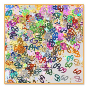 60th And Stars Confetti Party Accessory