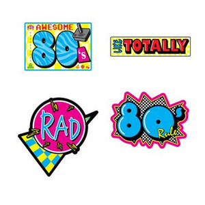 Awesome 80'S Cutouts Party Accessory