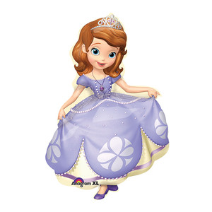 "35"" SOFIA THE FIRST POSED SHAPED BALLOON"