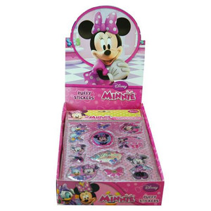 Minnie Bowtique Glitter Puffy Stickers