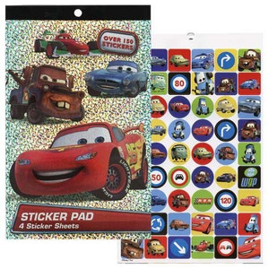 Disney Cars 4 Sheet Foil Cover Sticker Pad