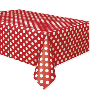 Ruby Red Polka Dots Tablecover 54 x 108