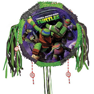 Teenage Mutant Ninja Turtles Pinata with Pull String