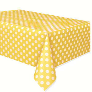 Sun Yellow Dots Tablecover