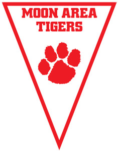 3-ft Moon Area Tigers School Spirit Pennant