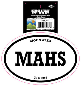 Moon Area Tigers MAHS Peel and Place Decal