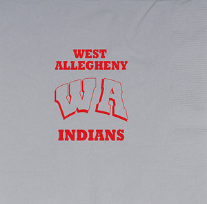 West Allegheny Indians Luncheon Napkins, 16 count