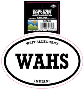 West Allegheny Indians WAHS Peel and Place Decal