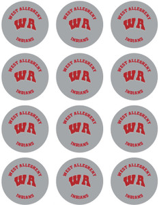 12 West Allegheny Indians Stickers