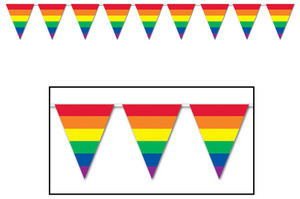 Rainbow Pennant Banner Party Accessory