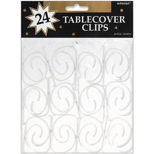 Tablecover Clear Plastic Clips