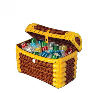 Inflatable Treasure Chest Cooler Party Accessory