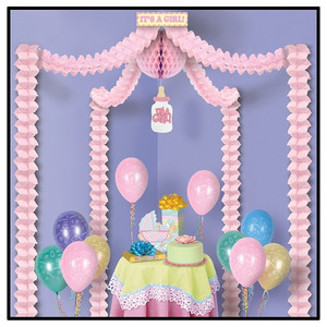 It's A Girl Party Canopy Party Accessory