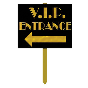 VIP Entrance Yard Sign Party Accessory