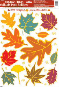 Autumn Fall Leaves Window Clings 12924