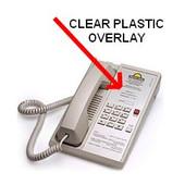 Teledex Diamond Clear Plastic Overlays