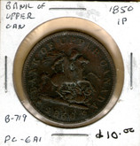 Bank of Upper Canada: 1850 Penny #4