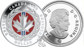 Canada: 2006 $1 Medal of Bravery Proof red enamel Silver Dollar coin