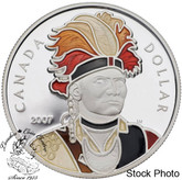 Canada: 2007 $1 Thayendanegea Proof enamelled Silver Dollar coin
