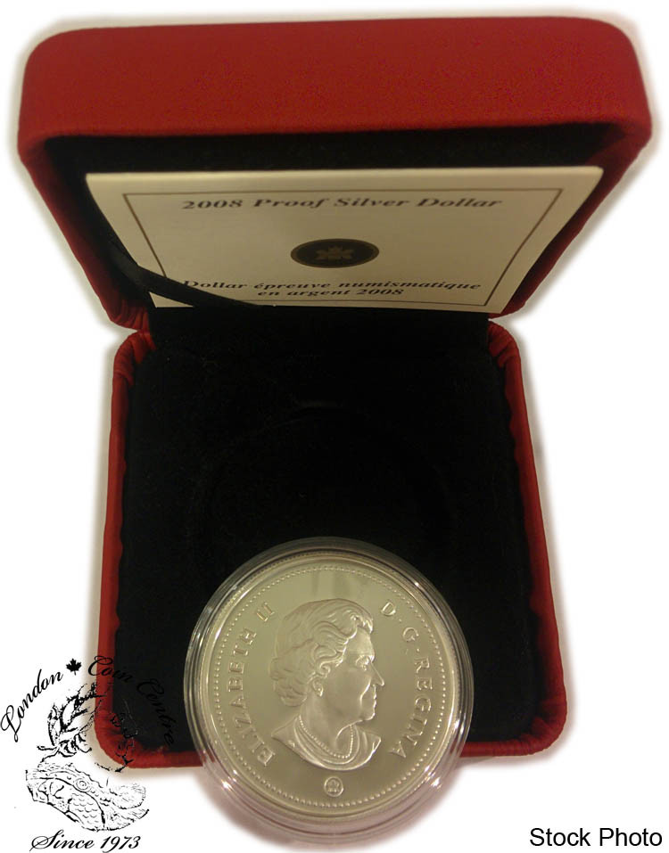 2008 Canada Proof Silver Dollar 400th Anniversary of Quebec City
