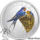 Canada: 2011 25 Cents Barn Swallow Coloured Coin