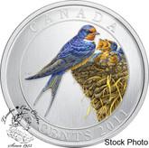 Canada: 2011 25 Cents Barn Swallow Coloured Coin
