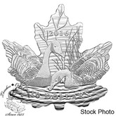 Canada: 2016 $10 Maple Leaf Silhouette Canadian Geese Silver Coin