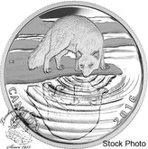 Canada: 2016 $10 Reflections of Wildlife - The Arctic Fox Silver Coin