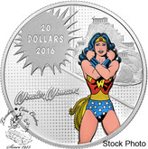 Canada: 2016 $20 Wonder Woman Silver Coin - DC Comics™ Originals