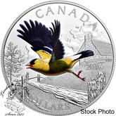 Canada: 2016 $20 The Migratory Birds Convention - American Goldfinch Silver Coin