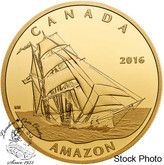 Canada: 2016 $200 Tall Ships Legacy: Amazon Gold Coin
