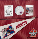 Canada: 2012 25 Cents The Montréal Alouettes Coloured Coin & Stamp Set