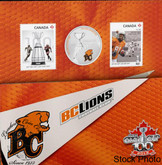 Canada: 2012 25 Cents The BC Lions Coloured Coin & Stamp Set
