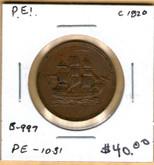 P.E.I: 1820 Halfpenny B-997, PE-10-31 #2