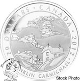 Canada: 2012 $20 Franklin Carmichael Houses Cobalt, Group of Seven, Silver Coin