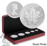 Canada: 2013 25th Anniversary of the Maple Leaf Pure Silver Fractional Coin Set