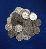 Canada: 1937-1942 George VI 5 Cent Nickels (40 pcs) Average Circulated Condition