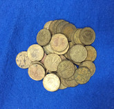 Canada: 1943 5 Cent Victory Tombac (40 pcs) Average Circulated Condition